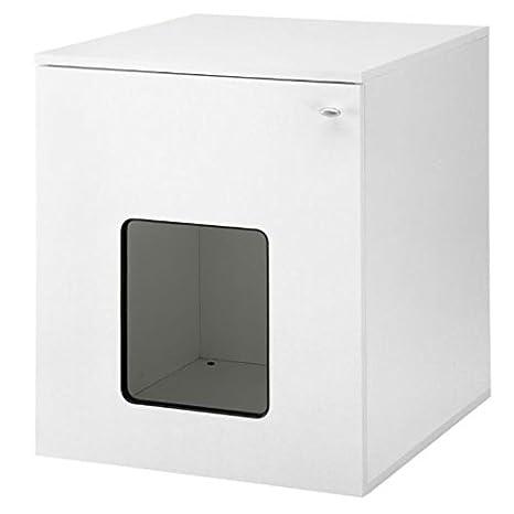 Gato blanco moderno armario - Innovador Y multifuncional caja de basura/dormir den con Swing puerta, estante - con libre gato juguete: Amazon.es: Productos ...