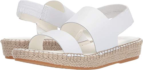 (Cole Haan Women's Cloudfeel Espadrille Sandal Optic White Leather/Natural Jute/Gume 5 B US)