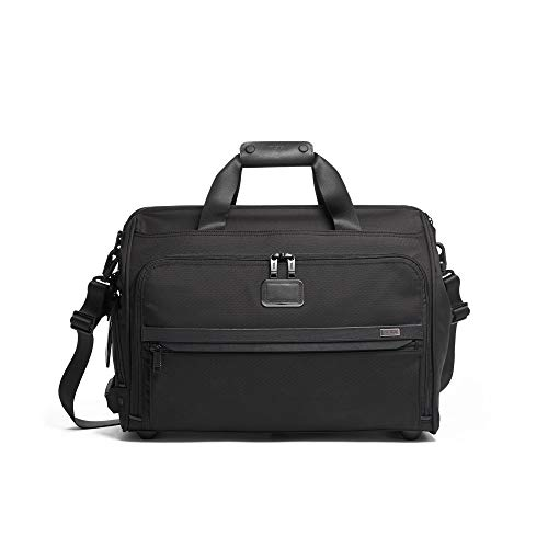 TUMI - Alpha 3 Framed Soft Duffel Bag - Travel Laptop Satchel for Men and Women - Black