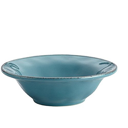 Rachael Ray Cucina Dinnerware 10-Inch Round Serving Bowl, Agave Blue
