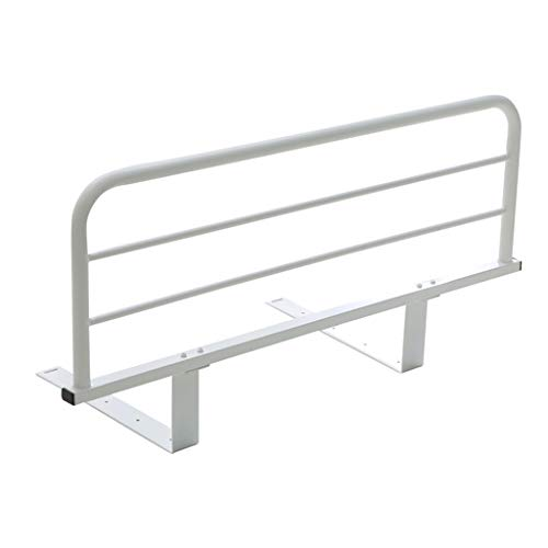 QZ Bed Rail Loft Bed for Kids Adults, White Metal Hand Rail for King Queen Twin Bed, Hospital Grade 120cm Safety Bedguard for Seniors (Size : Mat Thickness 20CM) -