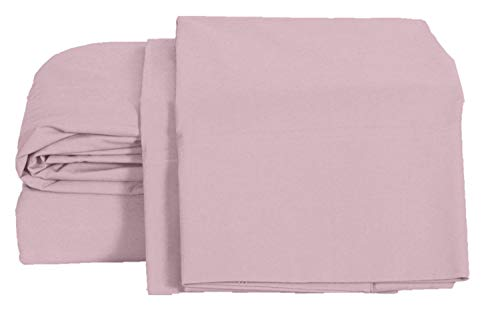 100% Cotton Percale Sheets Queen Size, Lilac, Deep Pocket, 4 Piece - 1 Flat, 1 Deep Pocket Fitted Sheet and 2 Pillowcases, Crisp and Strong Bed Linen