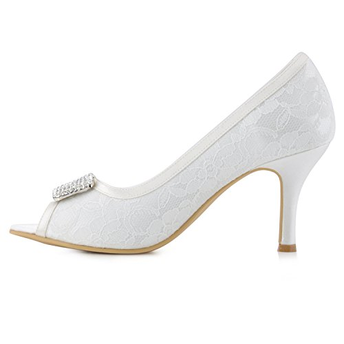 Heel 7 pour Sandales White femme Minitoo 5cm nxHTqfYY