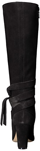 31msy9v%2BHDL The Fix Women's Nia Knee-High Ankle Tie Boot, Black, 10 M US