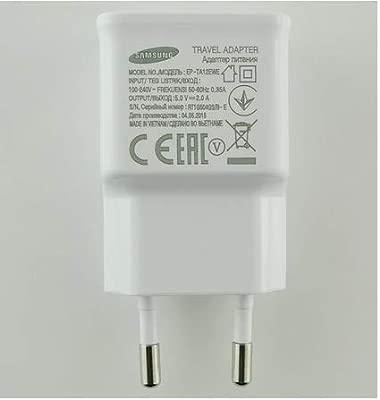 Cargador Original Samsung EP-TA12EWE para Galaxy S3, S4, S5, S6, Note, J1, J3, J5, A3, A5, Core, Prime, Grand, Blanco, Bulk