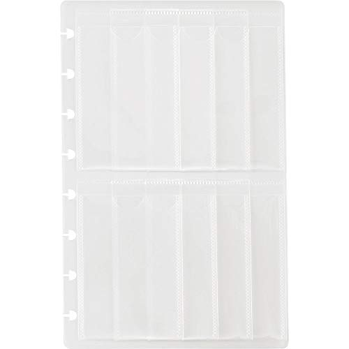 Staples Arc System Business Card Holders, Clear, 5-1/2