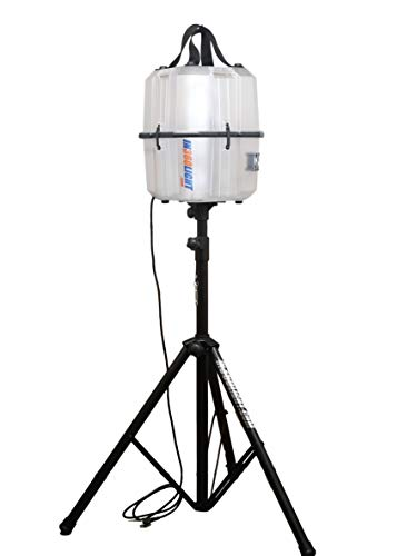 Professional LED Work Light with Telescoping Tripod Stand, Portable Indoor Outdoor Lighting, 20,000 Lumens, by In360Light