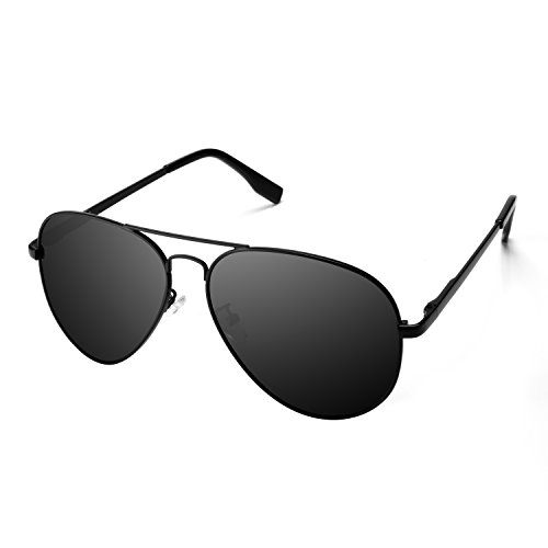 PGXT Premium Full Mirrored Aviator W/ Flash Mirror Lens Uv400 Sunglasses Eyewear - Matte Aviators Black