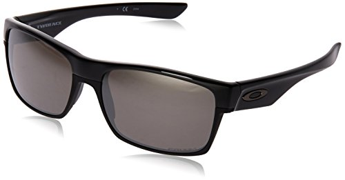 Oakley Men's OO9189 TwoFace Square Sunglasses, Polished Black/Prizm Black, 60 mm (Oakley Two Face)