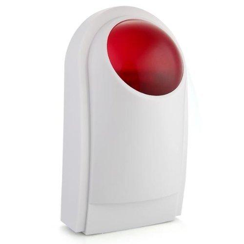 SODIAL(R)DC12V Waterproof Outdoor Siren Alarm Detector Strobe Wired Anti Burglar