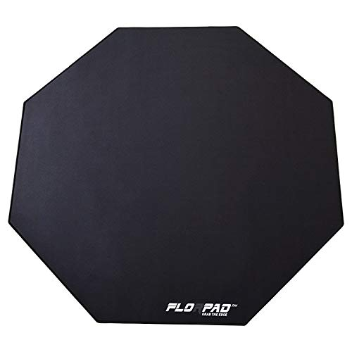 Florpad Black Line Gaming Office Chair Mat | Protects All Floors | Liquid Resistant | Noise Cancelling | Smooth Surface 39.4'' x 39.4'' ()