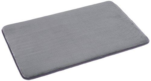 AmazonBasics Non-Slip Memory Foam Bath Mat 18'' x 28'' - Gray, ()