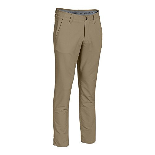 Under Armour Men's Match Play Golf Pants – Tapered Leg, Canvas/True Gray Heather, 40/32