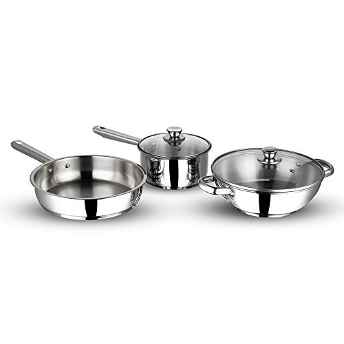 Vinod Stainless steel induction friendly Modena cookware set -3 pieces Price & Reviews