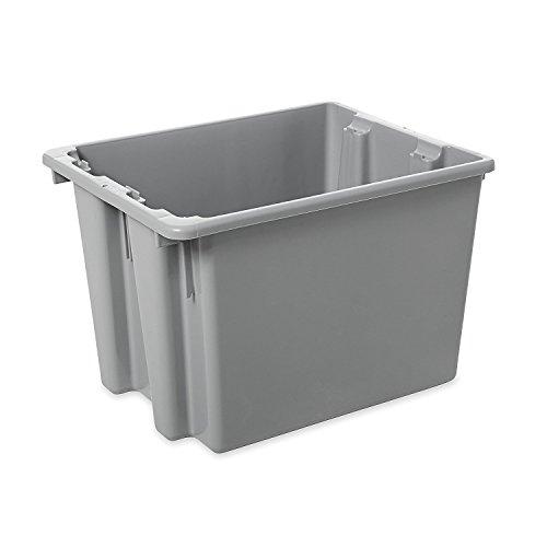 Rubbermaid Palletote Box, 1.6 Cap. Cu. Ft., Gray - Lot of - Palletote Box Gray
