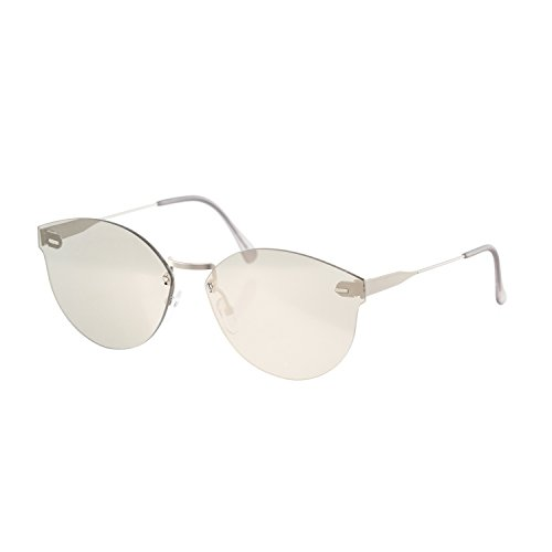 Super Sunglasses Women's Tuttolente Panama Sunglasses, Silver/Ivory, One - Super Sunglasses Panama