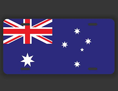 (DHDM Designs Australia Flag License Plate Tag Vanity Novelty Metal | UV Printed Metal | 6-Inches by 12-Inches | Car Truck RV Trailer Wall Shop Man Cave | VLP125)