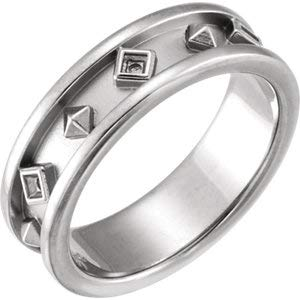 Jambs Jewelry 14K White Etruscan-Style Ring Mounting Size 9.5 ()