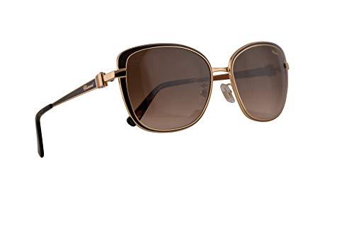 Chopard SCHB69S Sunglasses Brown Gold w/Brown Gradient Lens 57mm 316K SCH B67S SCHB 69S ()