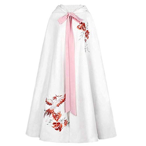 End of the desert Dot Cinnabar Traditional Hanfu Cloak Female Heavy Industry Embroidery Plus Velvet Thick Long Cape Winter from End of the desert
