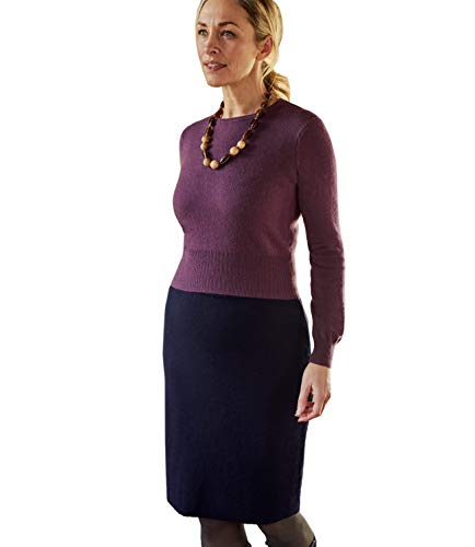 - Wool Overs Womens Milano Skirt Navy XS