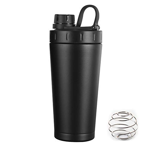 Lukasa Shaker Bottle, Protein Stainless Steel Shaker Cup, Leak Proof, Heat Preservation,BPA Free, 18-Ounce,with Blender Ball