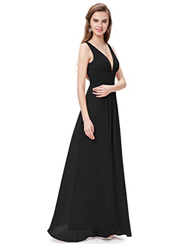 Ever-Pretty Womens Floor Length Semi Formal Evening Dress 8 US Black by Ever-Pretty (Image #4)