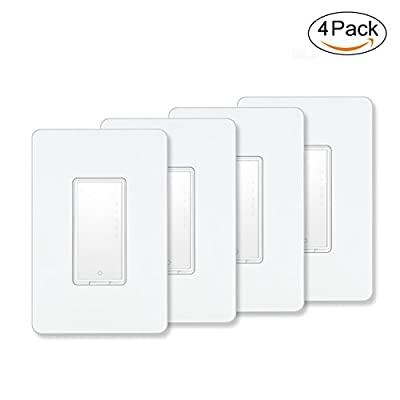 Smart Switch by MartinJerry   Compatible with Alexa, Smart Home Devices Works with Google Home, No Hub required, Easy installation and App control as Smart Switch On/Off/Timing (4 Pack)