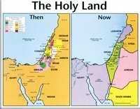Chart-Holy Land Then & Now Wall (Laminated)