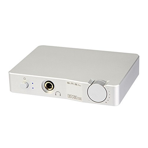 SMSL VMV V2 32Bit/384KHz HiFi Audio USB DAC with Headphone Amplifier Silver