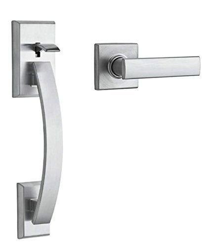 - Kwikset 815TVHVDL-26D Single Cylinder Tavaris Handleset with Interior Vedani Trim, No Deadbolt Satin Chrome Finish