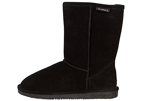 BEARPAW Women's Emma Short Boot,Black,9 M US ()
