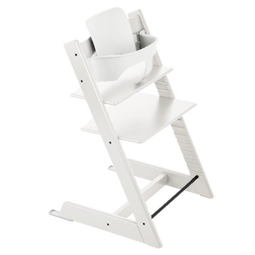 Stokke Tripp Trapp with matching Babyset - White