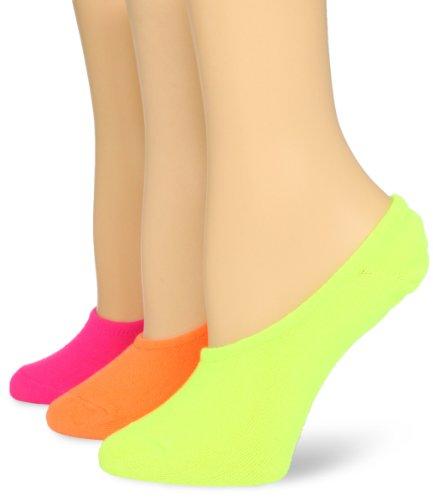Womens Neon Liner Socks - K. Bell Women's 3 Pack Fashion No Show Liner Socks, Neon Solid, Shoe Size 4-10/Sock Size 9-11