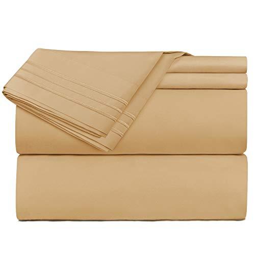 Nestl Bedding 4 Piece Sheet Set - 1800 Deep Pocket Bed Sheet Set - Hotel Luxury Double Brushed Microfiber Sheets - Deep Pocket Fitted Sheet, Flat Sheet, Pillow Cases, Queen - Separates Sheet Queen