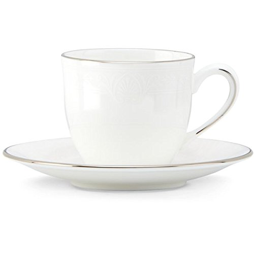Lenox Hannah Platinum Demitasse Cup and Saucer