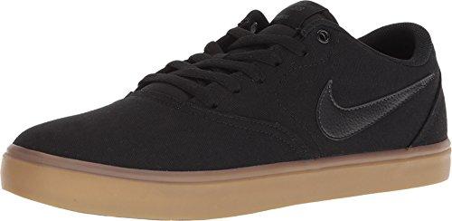 0da68fbae4 Nike Men's SB Check Solarsoft Canvas Skateboarding Shoes Black/Black-Gum  Light Brown 9