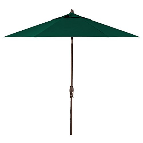 Treasure Garden 9-Foot (Model 810) Deluxe Auto-Tilt Market Umbrella with Bronze Frame and Sunbrella Fabric: Forest Green (Includes Extended Frame - Umbrella Aluminum Auto Tilt Sunbrella