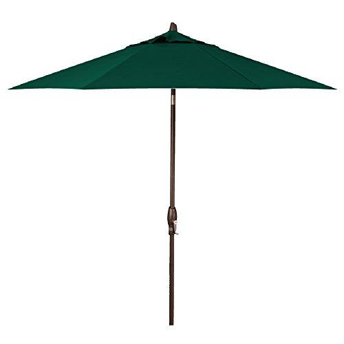 Treasure Garden 9-Foot (Model 810) Deluxe Auto-Tilt Market Umbrella with Bronze Frame and Sunbrella Fabric: Forest Green (Includes Extended Frame Warrantee) ()