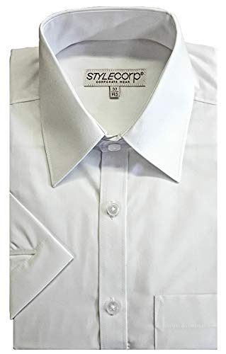 Men/'s Big Size Tom Hagan Long Sleeve Plain Shirts Top Pocket 3XL 4XL 5XL 6XL