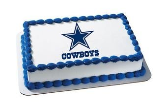 Dallas Cowboys Edible Frosting Sheet Cake Topper - Licensed - 1/4 -