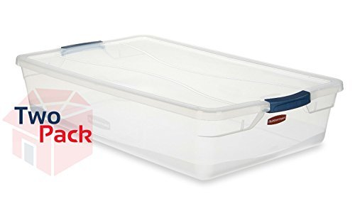 Rubbermaid -  Clever Store Basic Latch (41 Quart) (Pack 2) by Rubbermaid