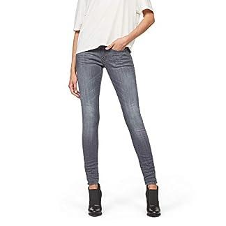 G-STAR RAW Damen Lynn D-Mid Waist Super Skinny Jeans, Grau (medium Aged 9296-071), 24W / 34L 7