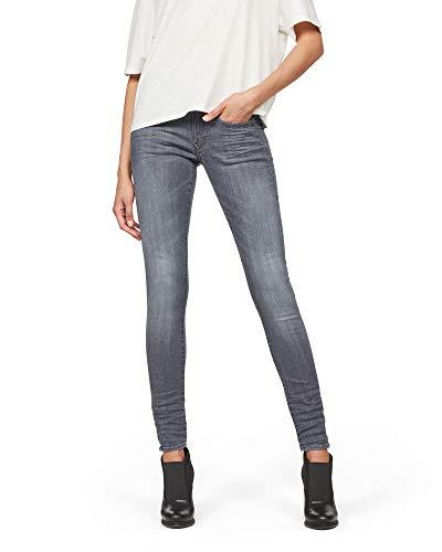 G-STAR RAW Damen Lynn D-Mid Waist Super Skinny Jeans, Grau (medium Aged 9296-071), 24W / 34L 1
