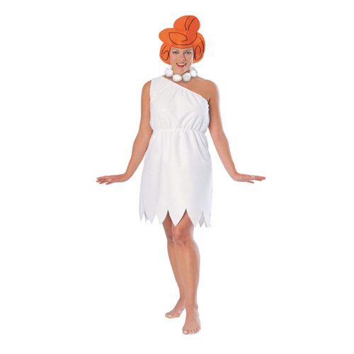 The Flintstones Wilma Flintstone Costume, White, Standard -