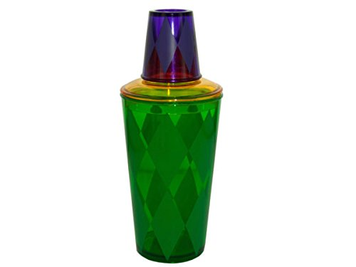 Mardi Gras Cocktail Shaker - Pack of 72 by bulk buys