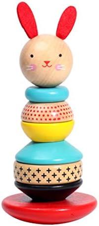 Jengdengルフェルールリングパイルヒープレインボータワーフェルールフェルール早期教育パズル子供赤ちゃん赤ちゃんのおもちゃ