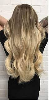 Moresoo 16 Inch Human Hair 130% Density Lace Front Wig Loose Wavy Dip Dyed #6 Brown Fading to #613 Blonde Wigs for White Women
