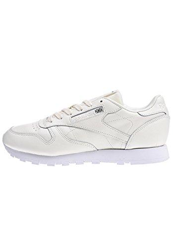 Reebok Damen Classic Leather X Face Sneaker Elfenbein (Classic Whitewhiteblack 0)
