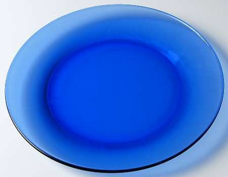 "Anchor Hocking PRESENCE 10"" Dinner Plate COBALT BLUE"